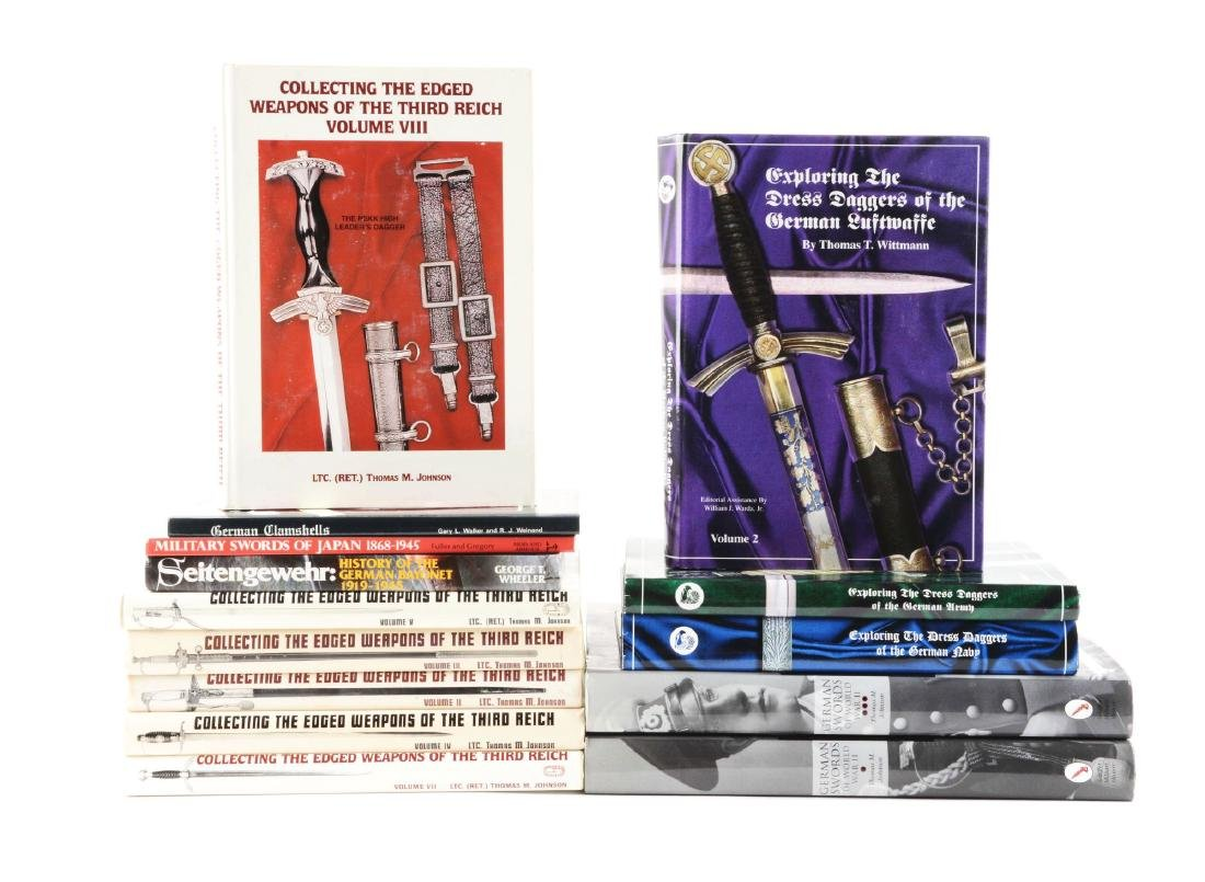 Lot Of 14: Nazi & German Edged Weapon & Sword Books.
