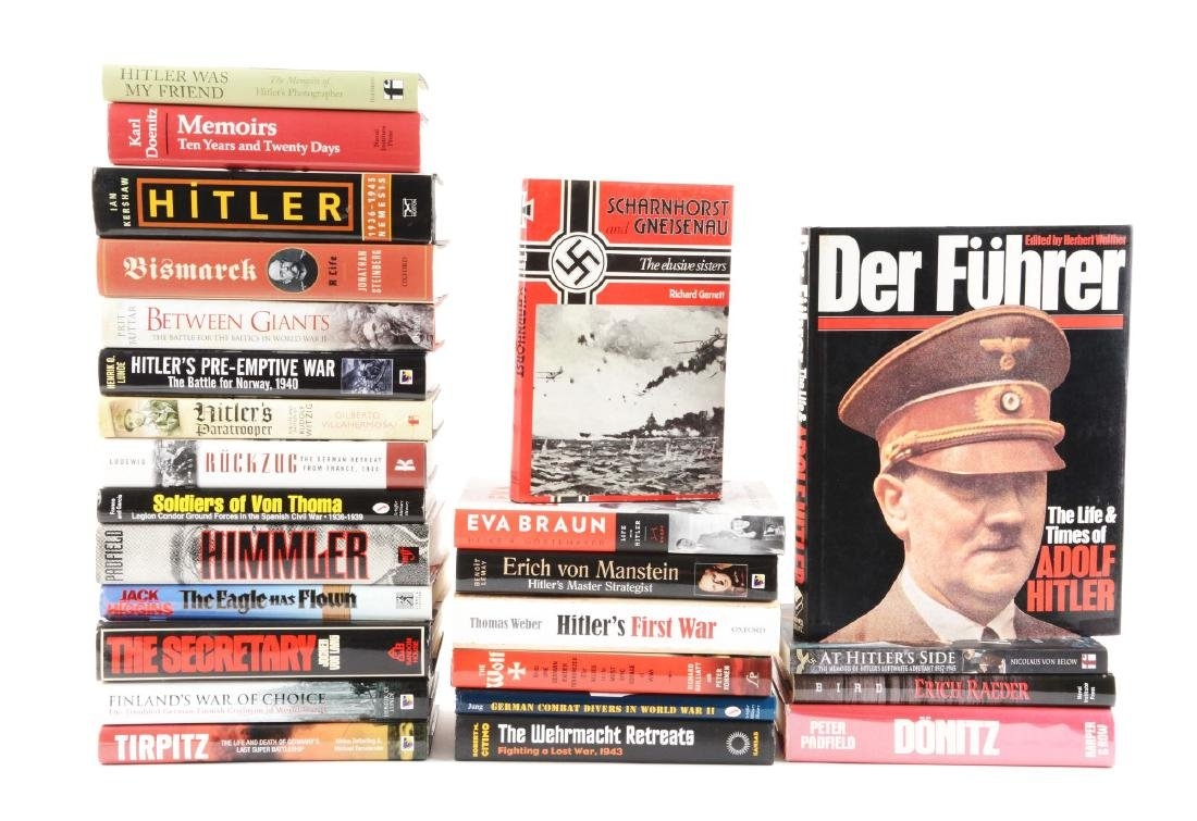Large Lot Of WWI & WWII Non-Fiction Books - Mostly