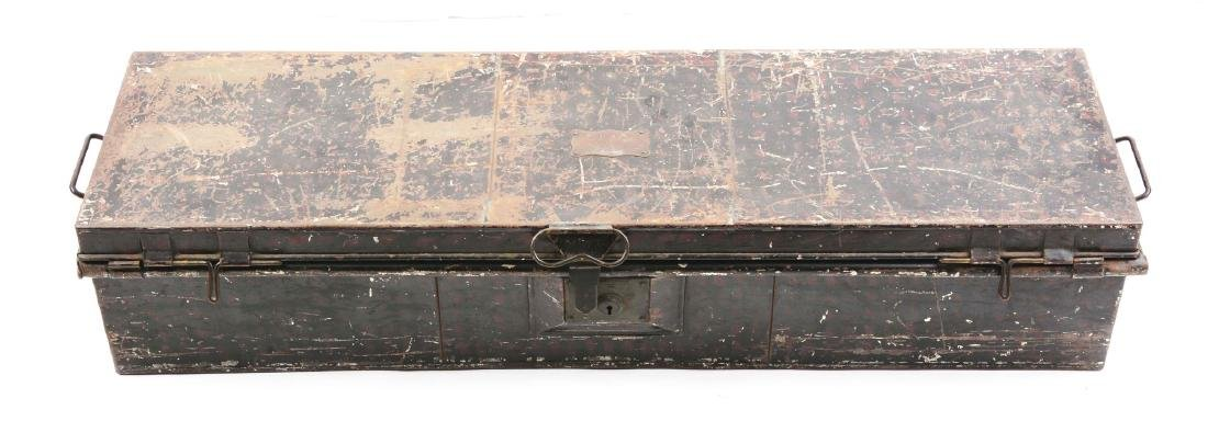 British Officer's Trunk with Sabertache & Period Belts - 2