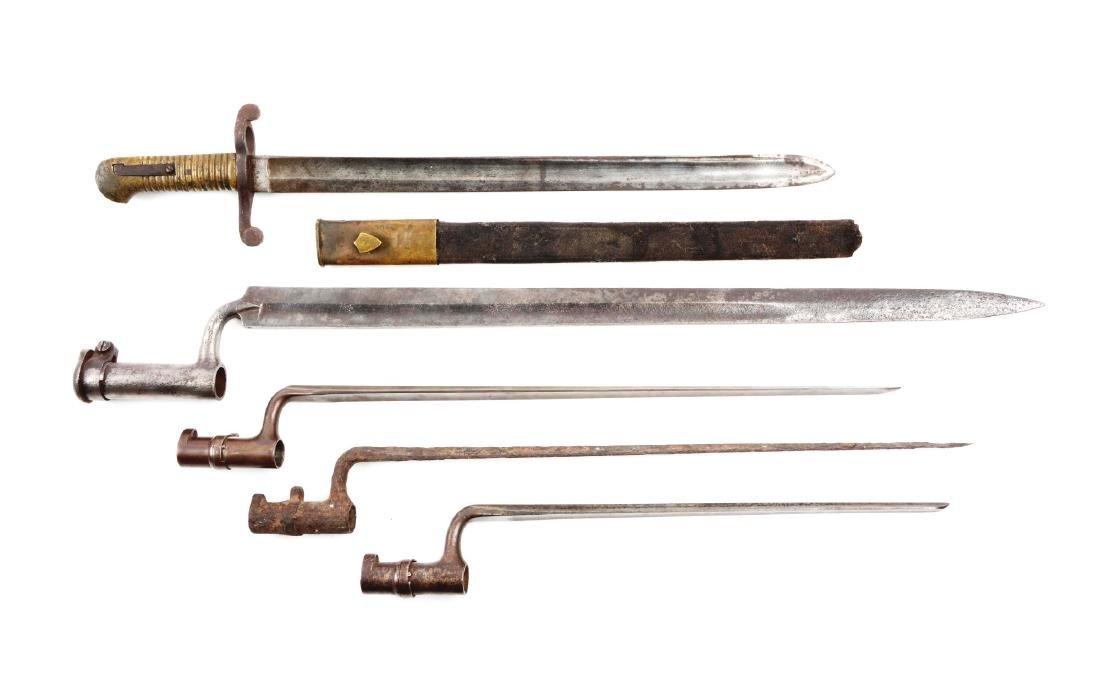 Lot Of 5: Civil War Era Bayonets.