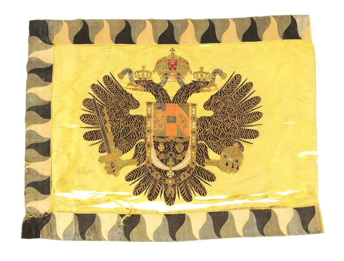 An Extremely Rare Imperial Embroidered Russian Flag. - 2