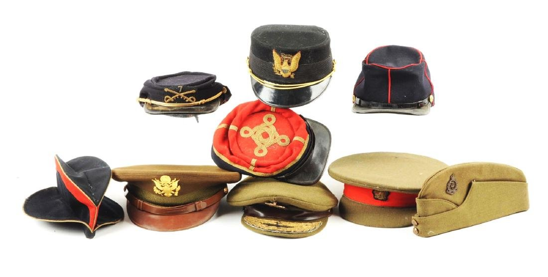 Lot Of British, American & Iraqi Hats.