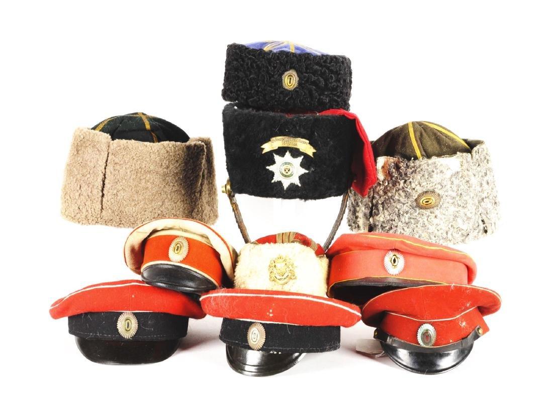 Lot Of Russian Hats & Headgear.