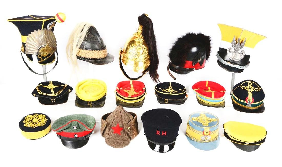 Large Lot Of Reproduction, Costume Hats & Head Gear.