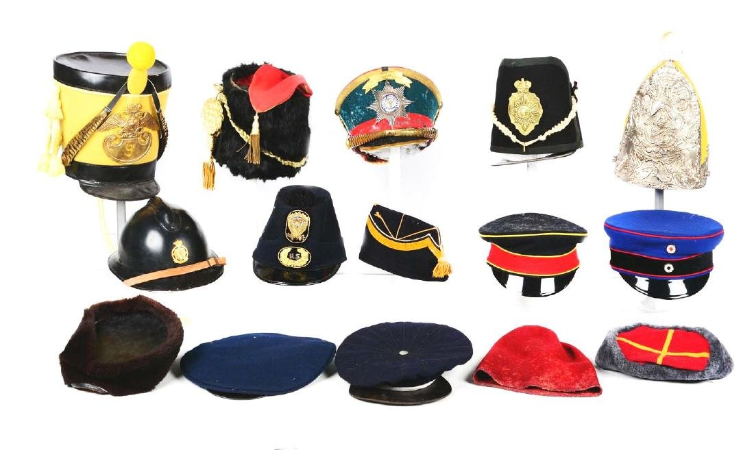 Large Lot Of Reproduction, Costume Hats & Head Gear. - 2