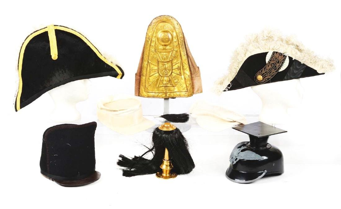 Large Lot Of Reproduction, Costume Hats & Head Gear. - 3
