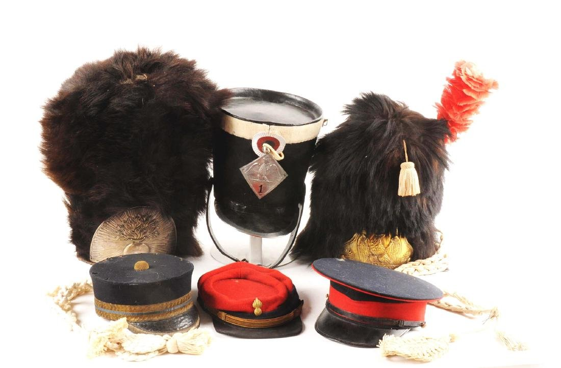 Large Lot of French Head Gear.