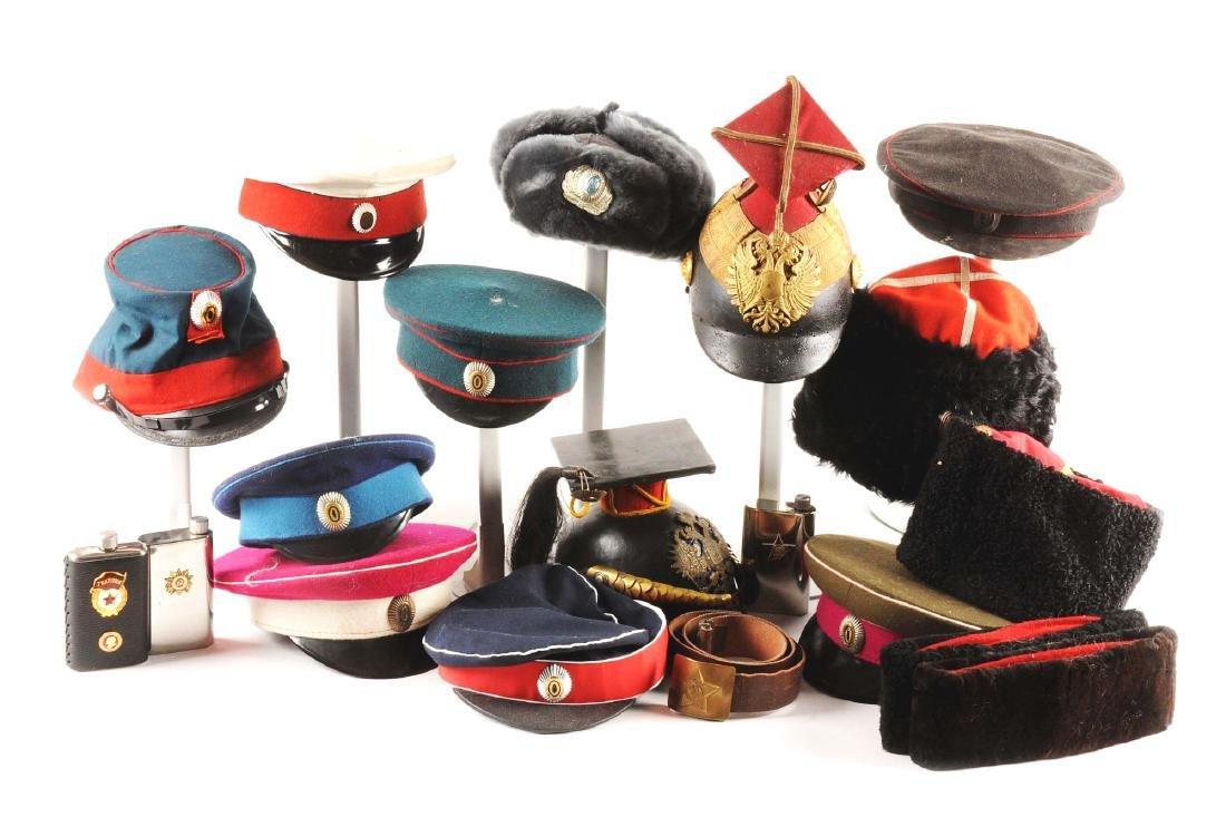Large Lot Of Russian Hats & Head Gear.