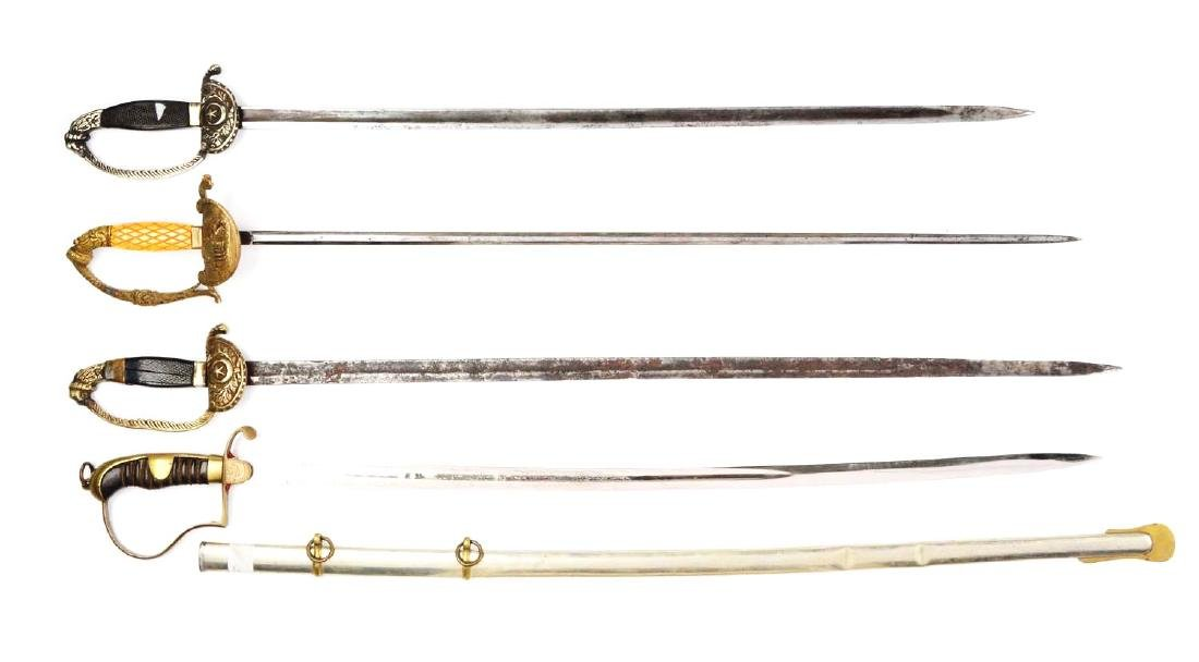 Lot Of 4: Persian Swords.