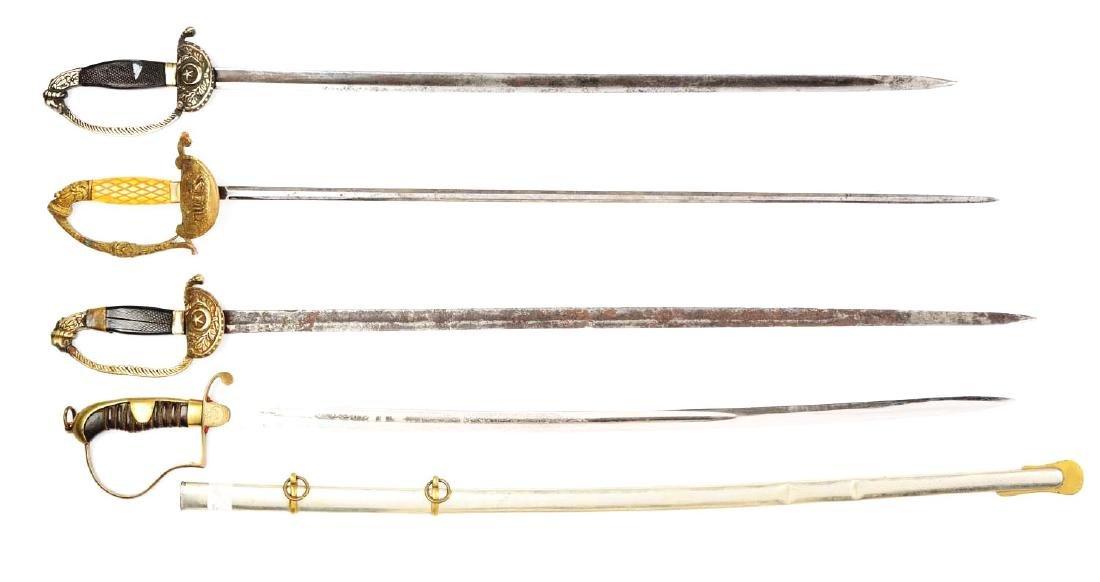 Lot Of 4: Persian Swords. - 2