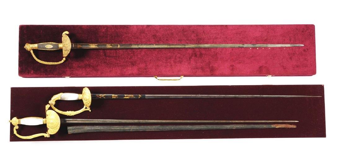 Lot Of 3: Court Swords.