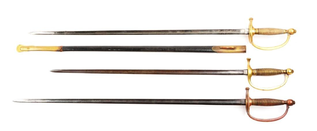 Lot Of 3: Two Model 1840 NCO Swords & Musician's Sword. - 2