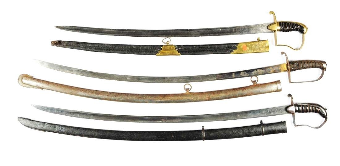 Lot Of 3: Continental Sabers With Scabbards. - 2