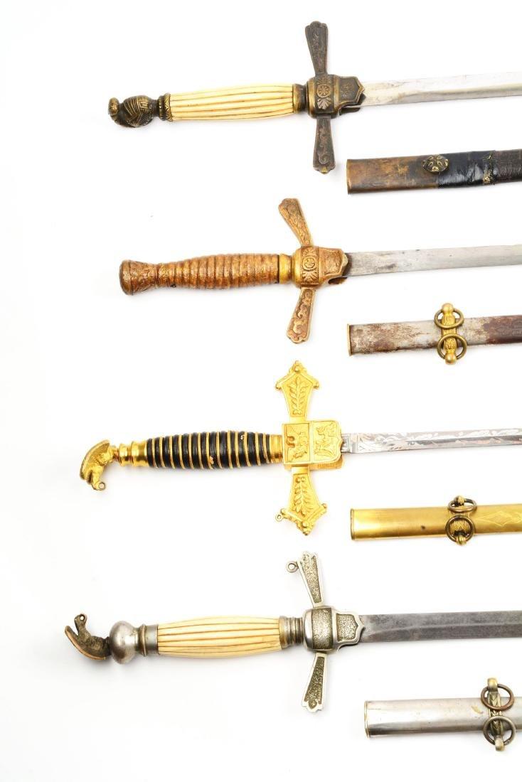 Lot Of 4: U.S. Militia Officer's Swords. - 2