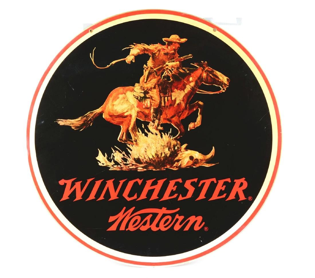 Large Vintage Metal Winchester Western Advertising