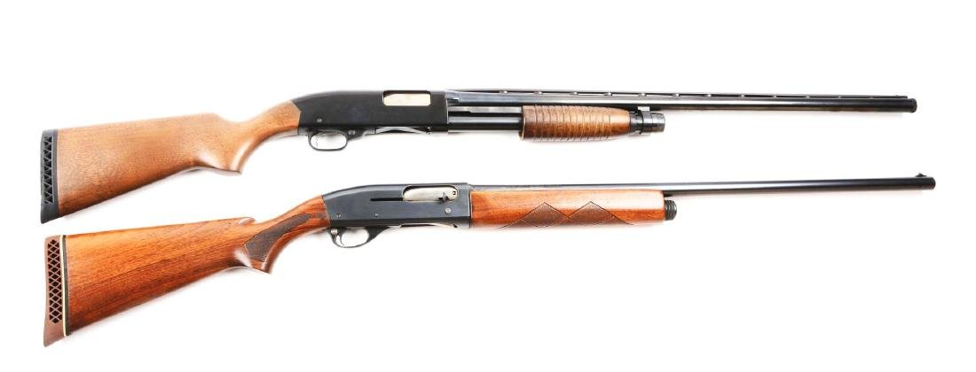 (C) Lot Of 2: Remington & Winchester Shotguns.