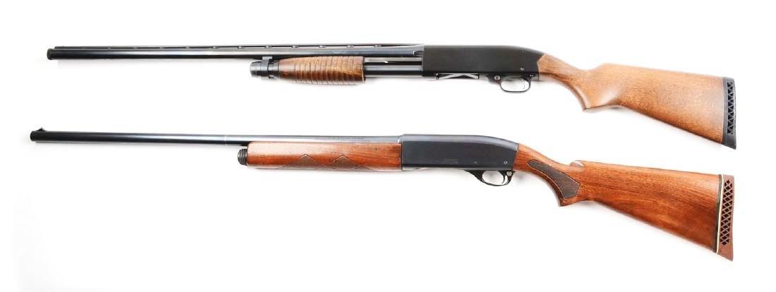 (C) Lot Of 2: Remington & Winchester Shotguns. - 2