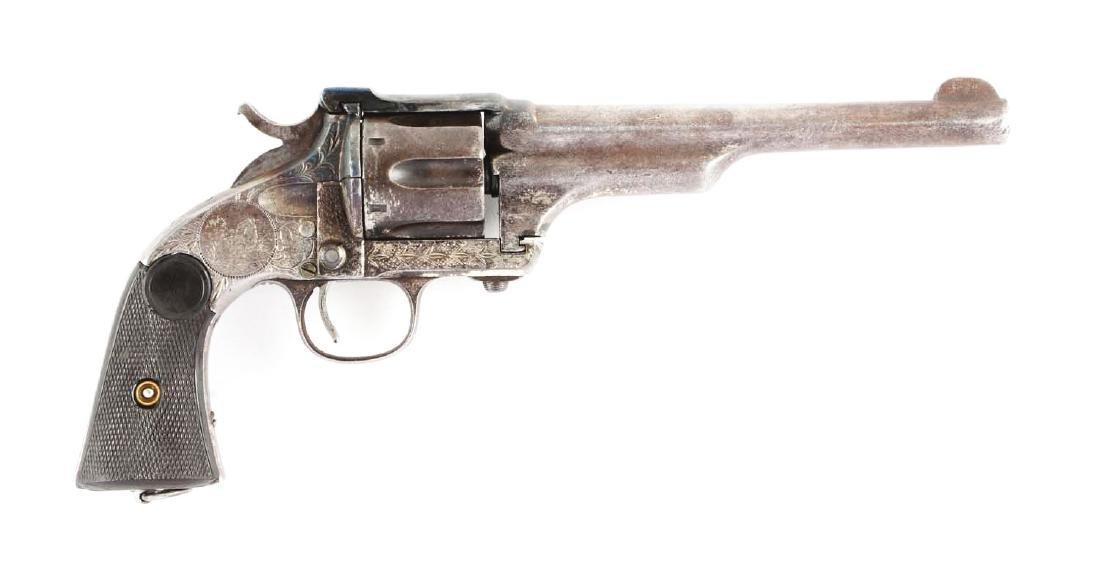 (A) Merwin & Hulbert 3rd Model Single Action Revolver.