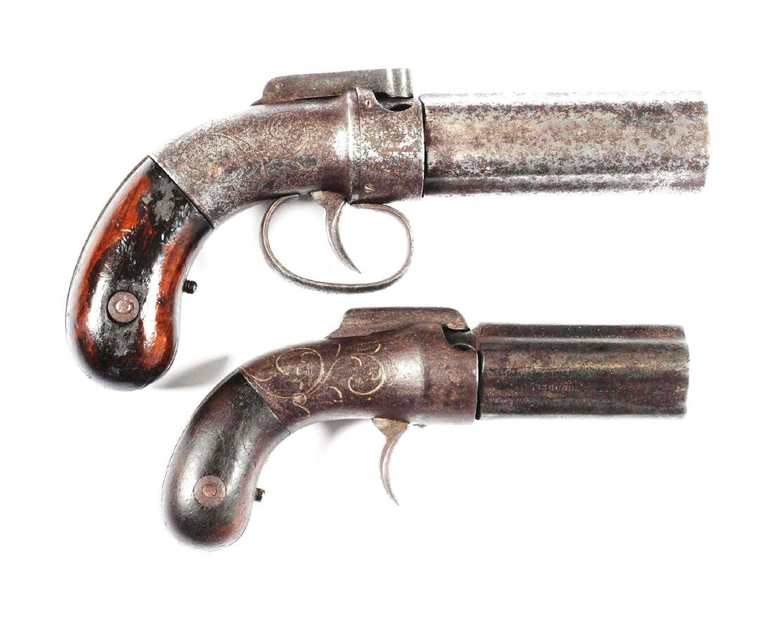 (A) Lot Of 2: Allen & Thurber Pepperbox Pistols.