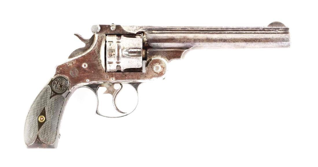 (A) S&W No. 3 Navy Top Break Double Action Revolver.