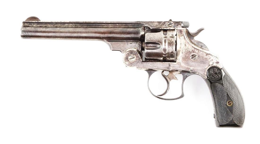 (A) S&W No. 3 Navy Top Break Double Action Revolver. - 2