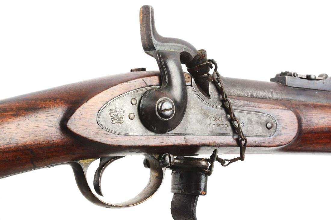 (A) British Model 1853 Enfield Rifle - Musket With - 9