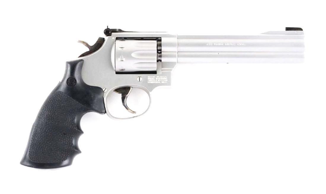 (M) Cased S&W Model 617-2 Double Action Revolver.