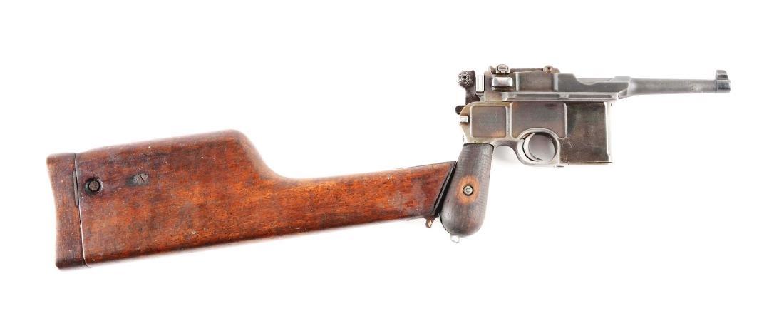 (C) Mauser C96 Broomhandle (Bolo) Semi-Automatic