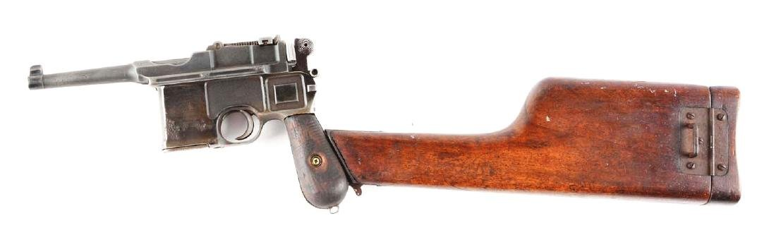 (C) Mauser C96 Broomhandle (Bolo) Semi-Automatic - 2