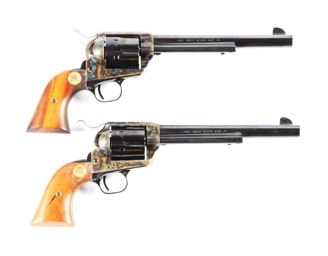 (M) Consecutive Numbered Pair Colt Single Action Army