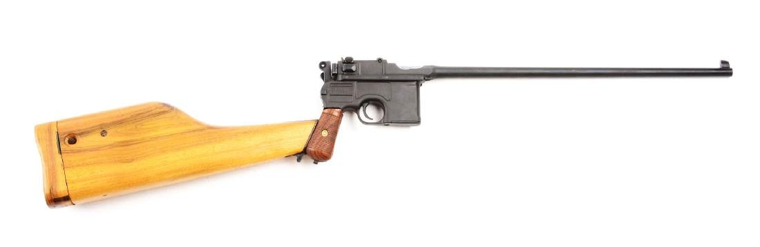 (C) Cased Custom Broomhandle Mauser Semi-Automatic