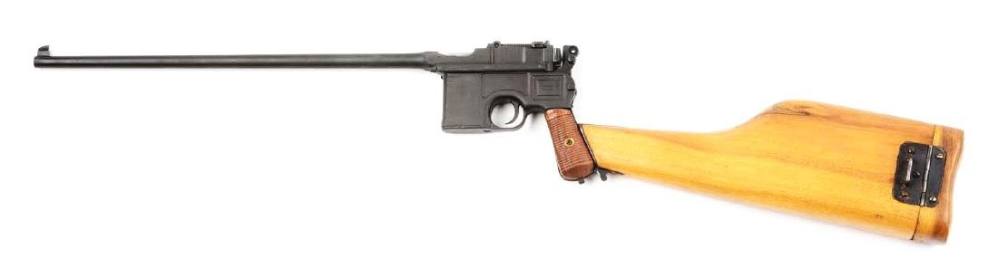 (C) Cased Custom Broomhandle Mauser Semi-Automatic - 2