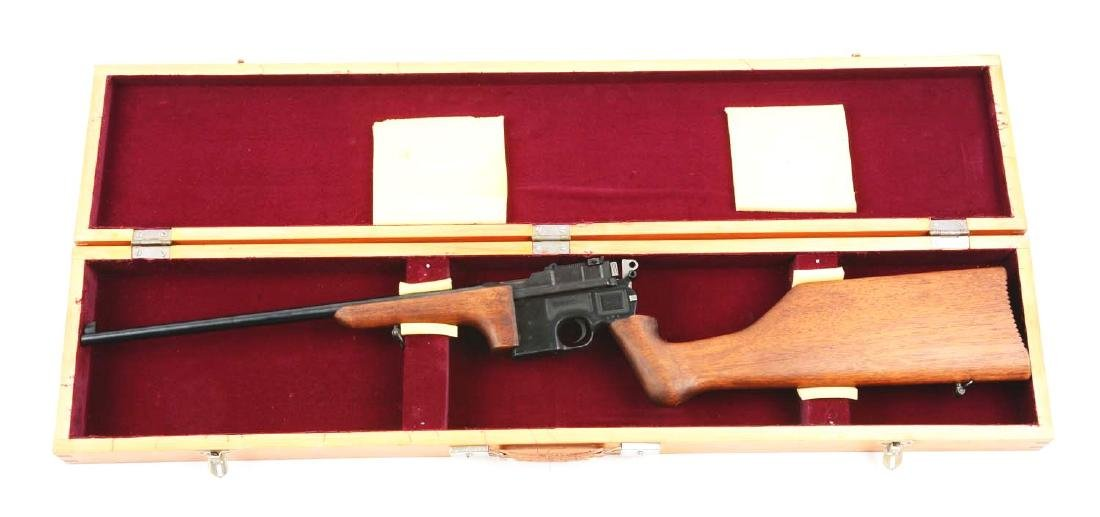 (C) Cased Custom Broomhandle Mauser Semi-Automatic - 5
