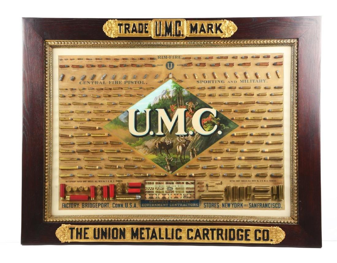 Huge Circa 1880-1890's UMC Framed Cartridge Store