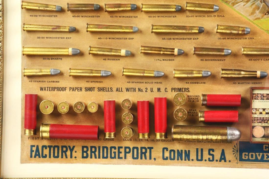 Huge Circa 1880-1890's UMC Framed Cartridge Store - 3