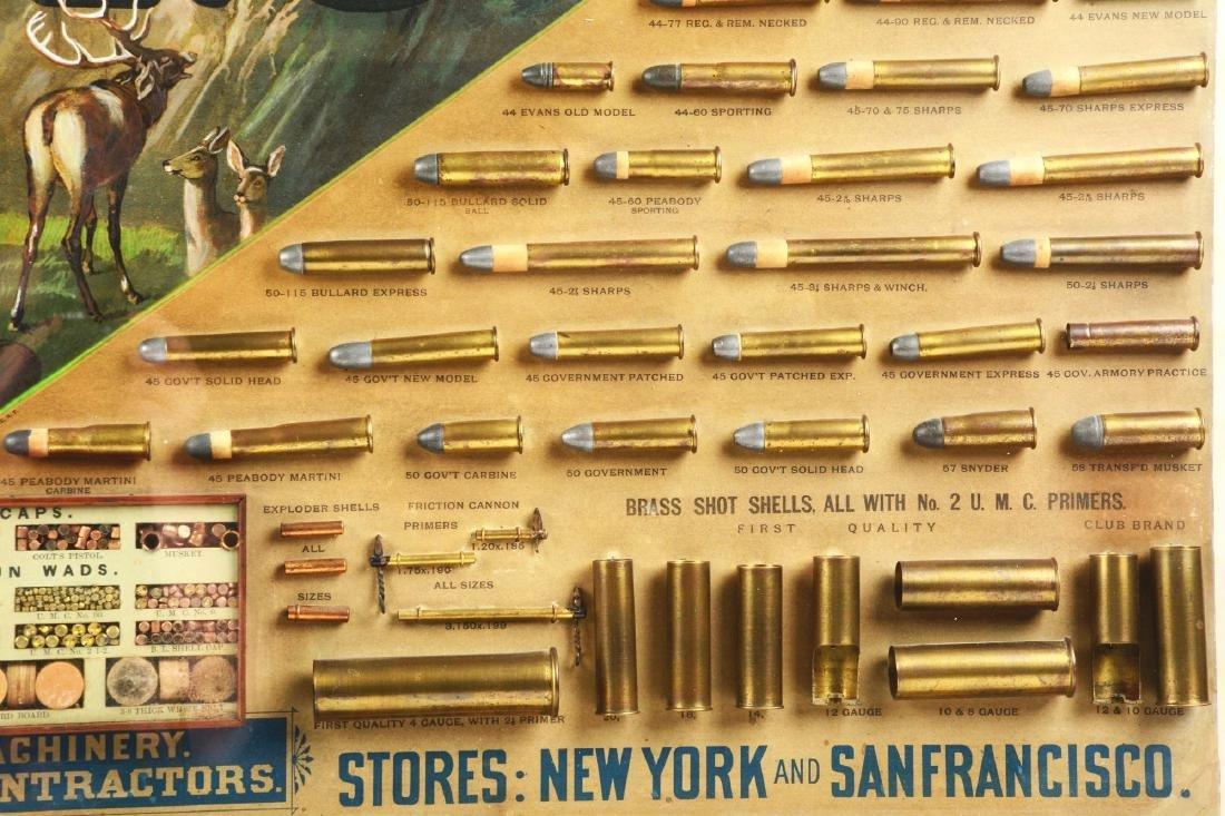 Huge Circa 1880-1890's UMC Framed Cartridge Store - 5