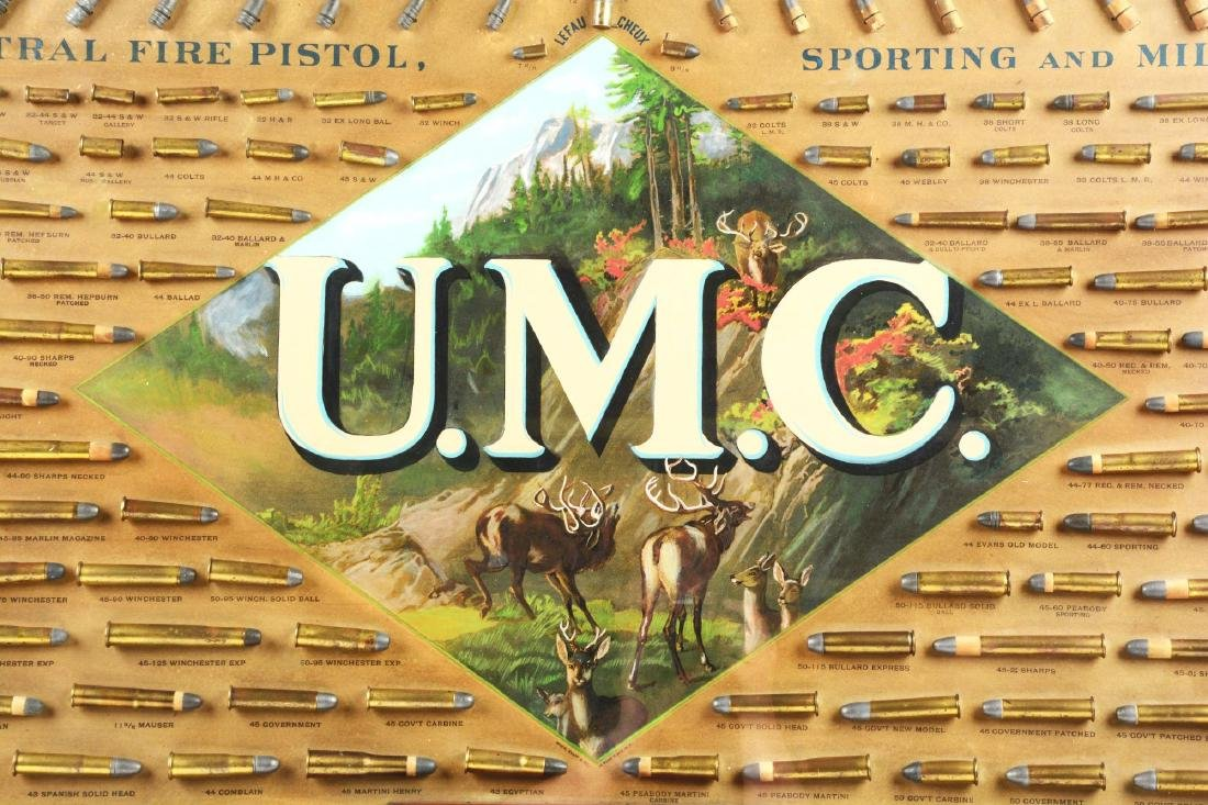 Huge Circa 1880-1890's UMC Framed Cartridge Store - 7