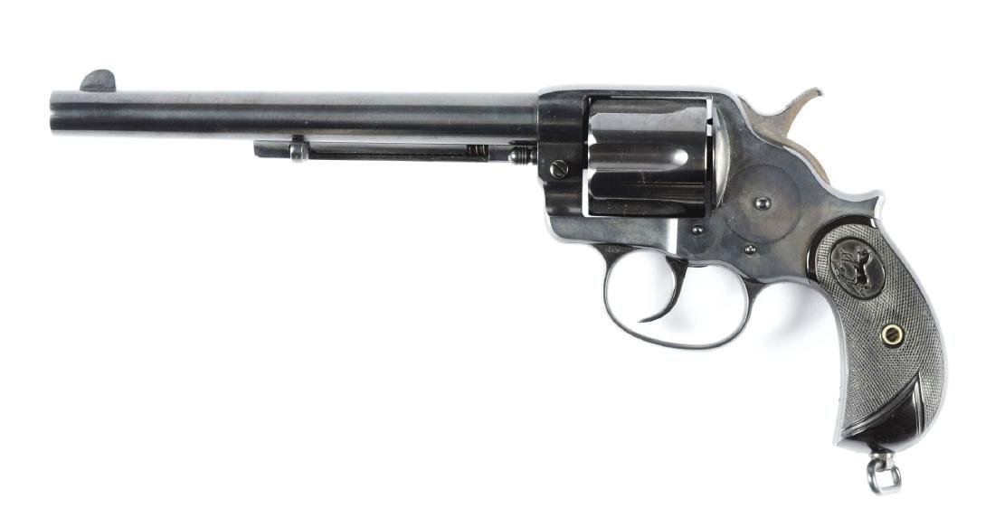 (A) Etched Panel Colt Model 1878 Double Action - 2