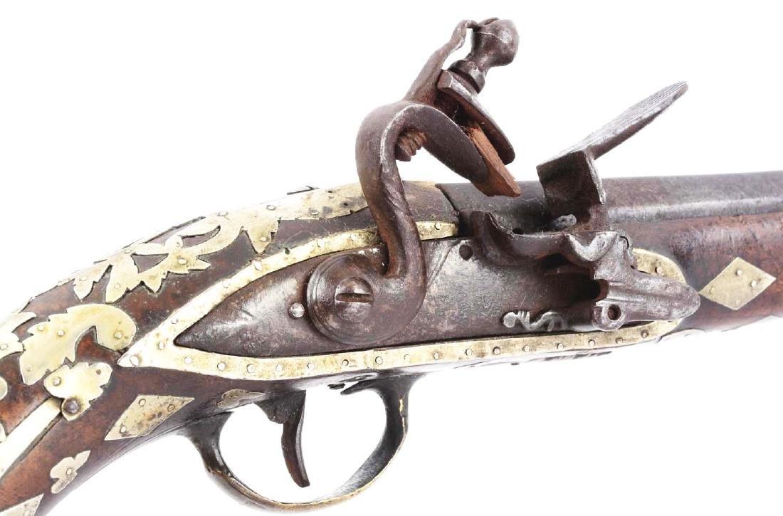 (A) Ottoman Flintlock Pistol With Silver Overlays. - 10