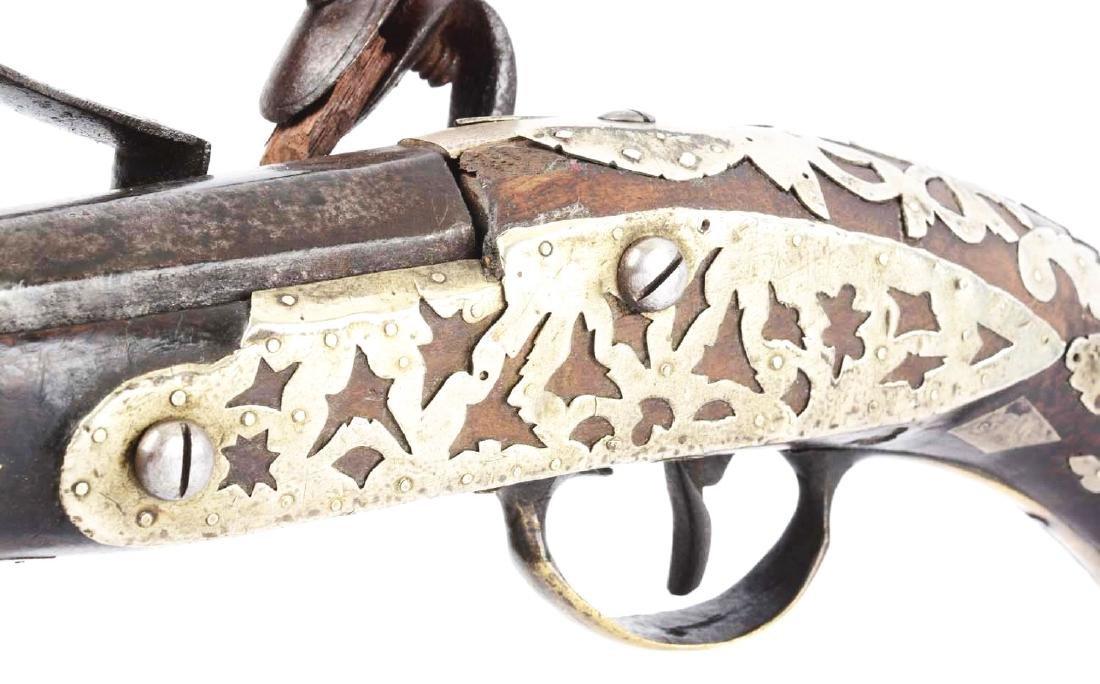 (A) Ottoman Flintlock Pistol With Silver Overlays. - 5
