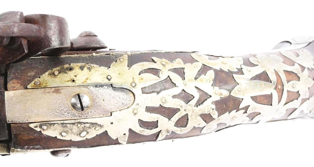 (A) Ottoman Flintlock Pistol With Silver Overlays. - 6