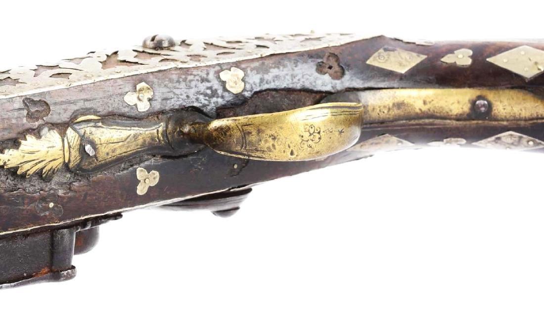 (A) Ottoman Flintlock Pistol With Silver Overlays. - 9