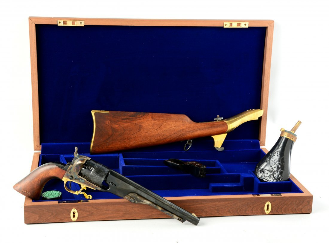 (A) Boxed Cased Colt Model 1860 Army Cavalry
