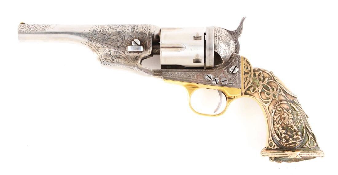 (A) Engraved Colt Model 1862 Pocket Conversion. - 2