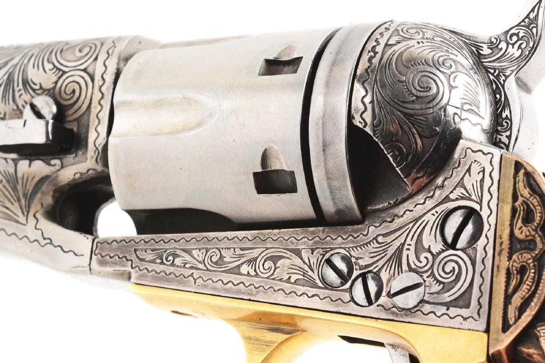(A) Engraved Colt Model 1862 Pocket Conversion. - 3