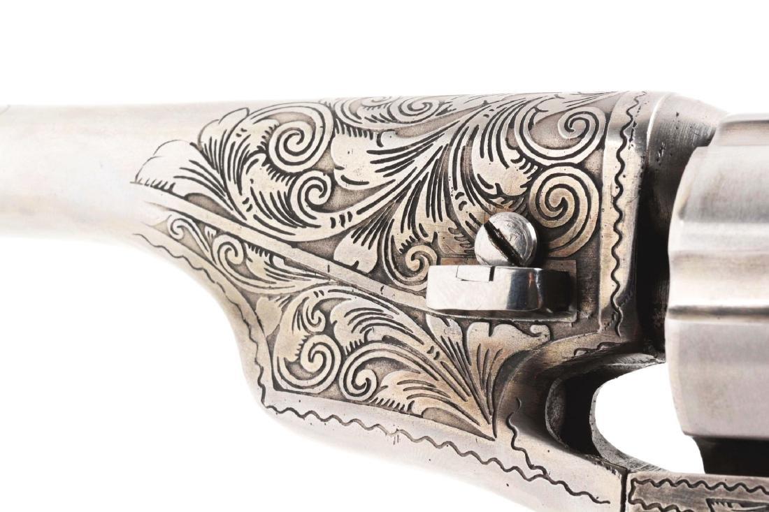 (A) Engraved Colt Model 1862 Pocket Conversion. - 4