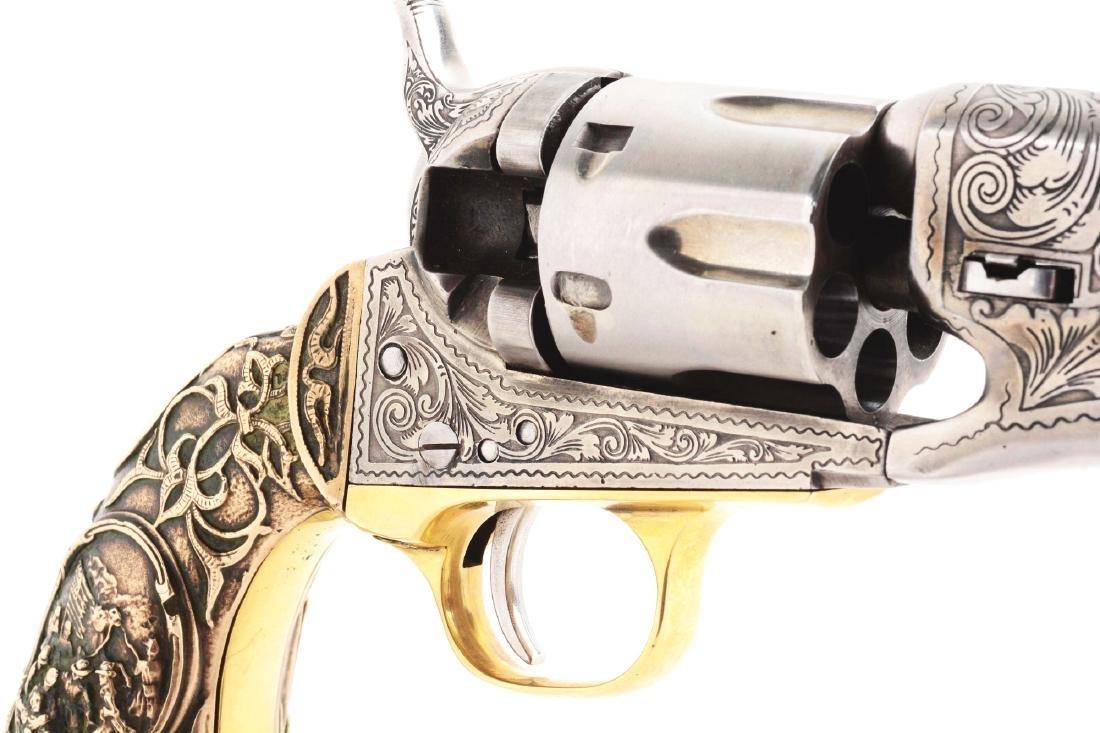(A) Engraved Colt Model 1862 Pocket Conversion. - 6