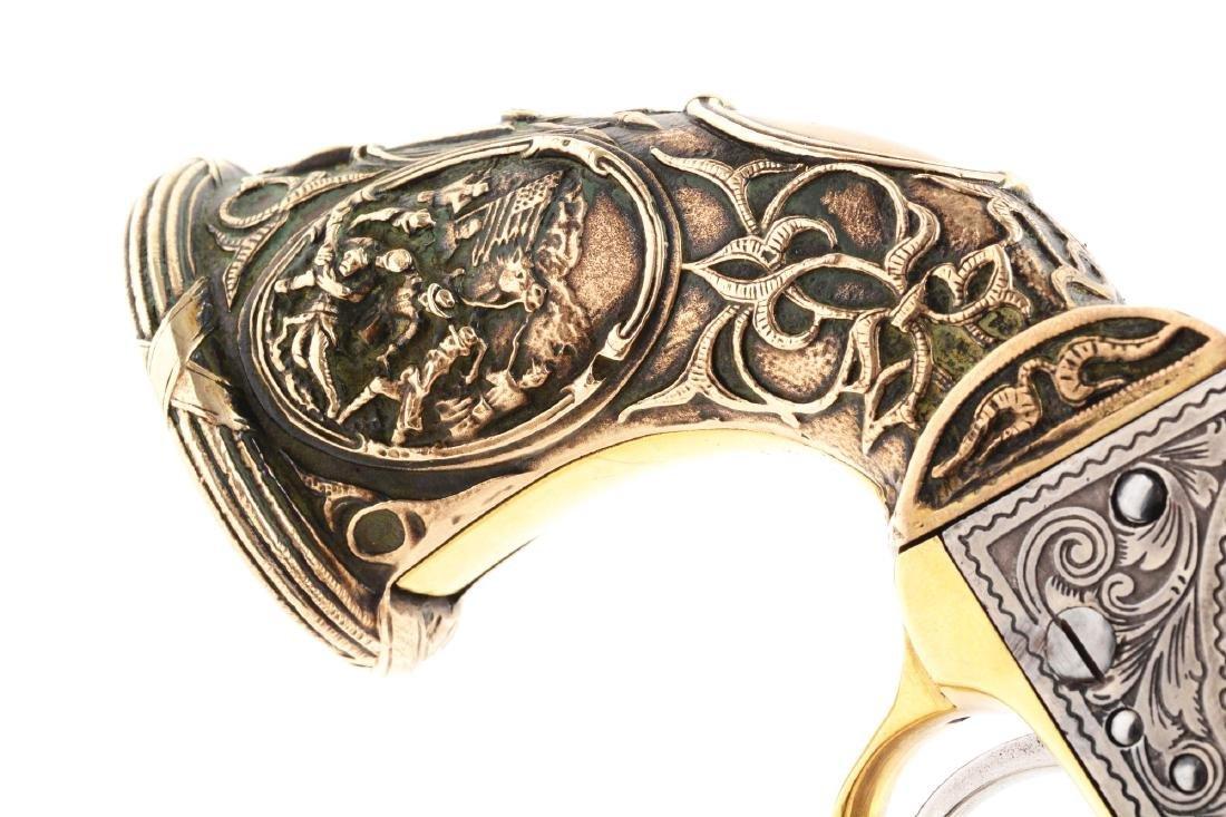 (A) Engraved Colt Model 1862 Pocket Conversion. - 7