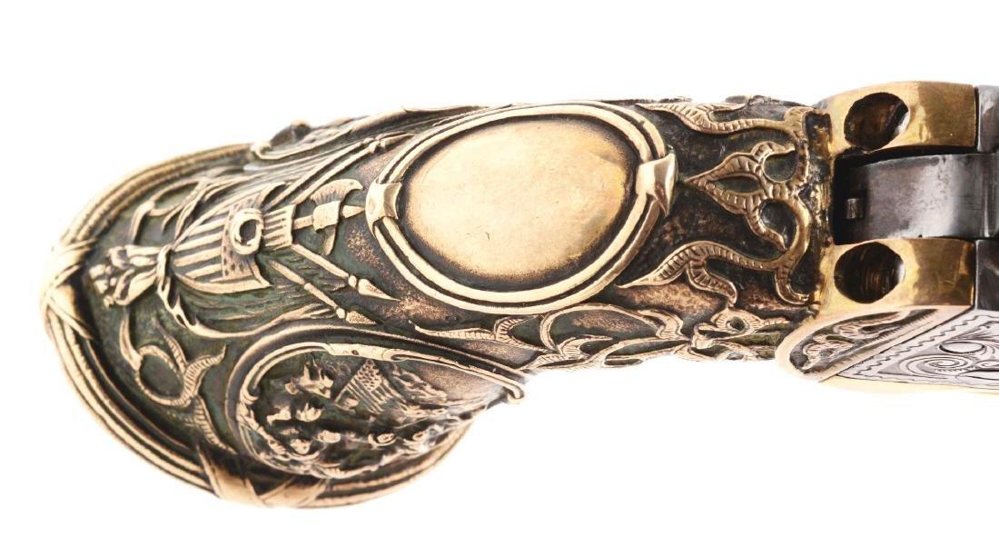 (A) Engraved Colt Model 1862 Pocket Conversion. - 8