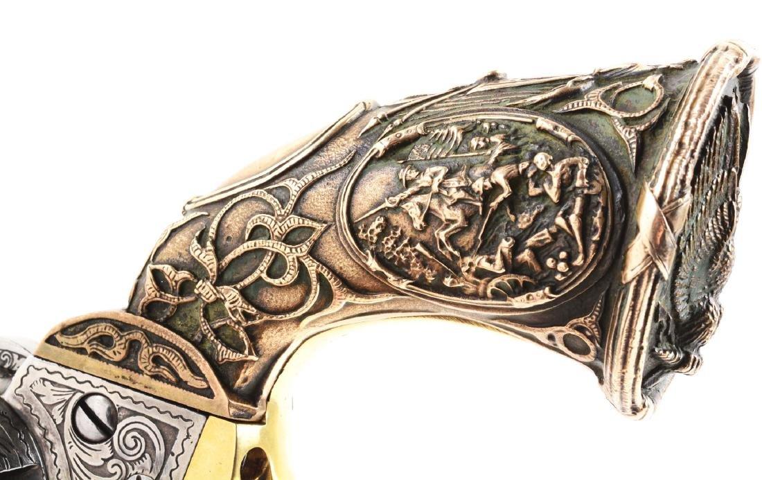 (A) Engraved Colt Model 1862 Pocket Conversion. - 9